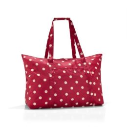 mini maxi travelbag (ruby dots)