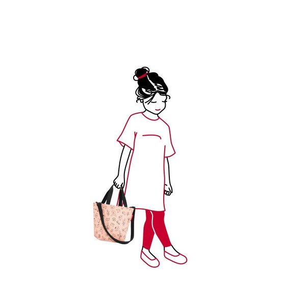 shopper XS kids (cats and dogs rose) 02