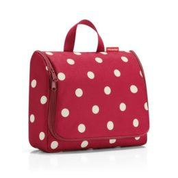 toiletbag XL (ruby dots)