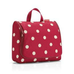toiletbag XL (ruby dots)