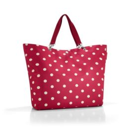 shopper XL (ruby dots)